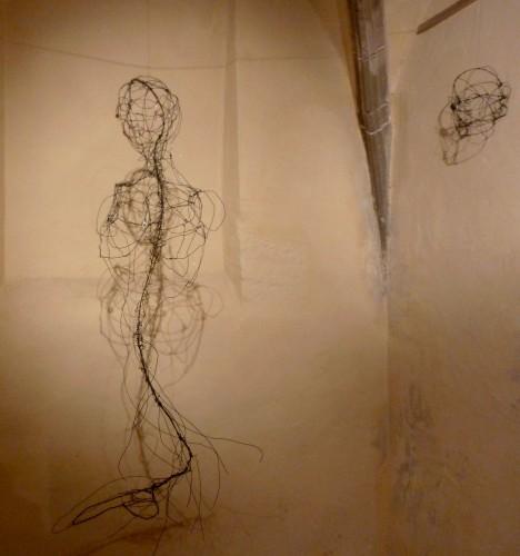 sirène,sculpture en fil de fer,pascal quignard